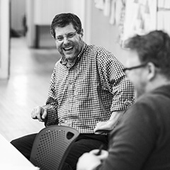 Ruben Bolling at The Center for Cartoon Studies talking to Luke Howard
