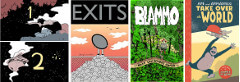 On a Sunbeam, Exists, Blammo 9, and Ape and Armadillo covers