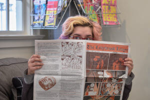 Stephanie Zuppo with The Ladybroad Ledger, Issue #1