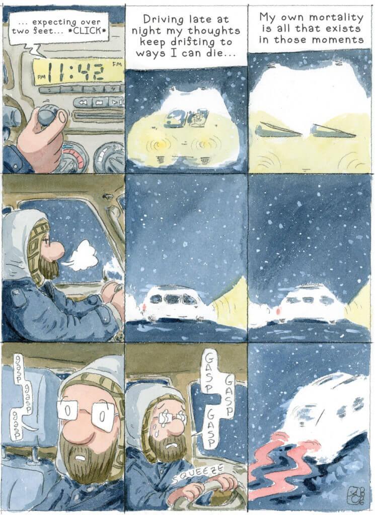 Driving comic by John Carvajal