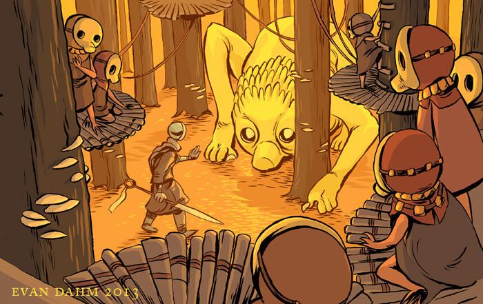 Comic work by Evan Dahm