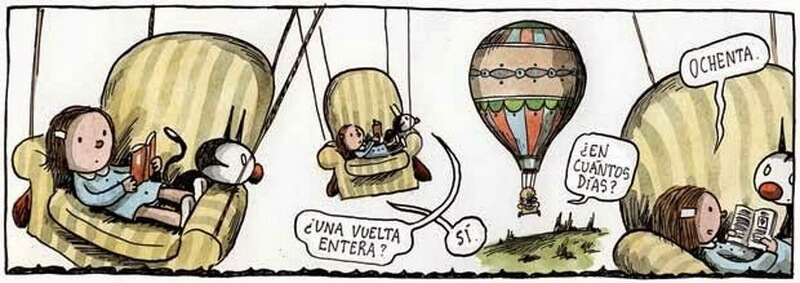 Comic by Liniers in the original Spanish.