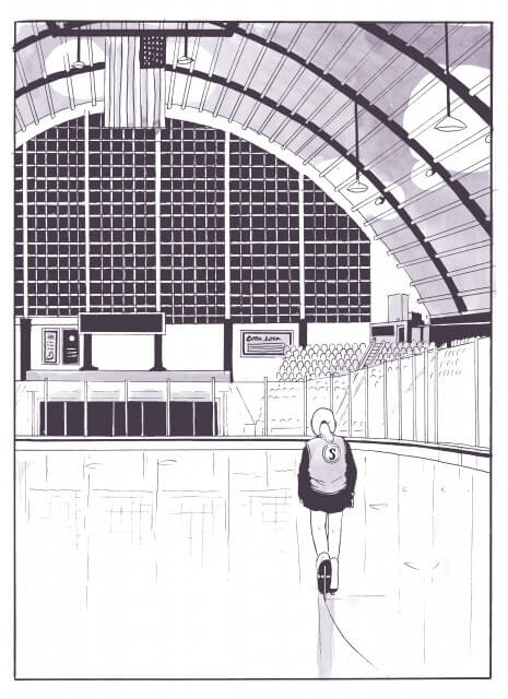 Page from Spinning by Tillie Walden