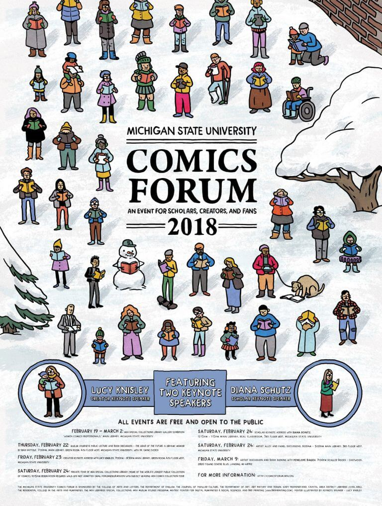 Post for MSU Comics Forum 2018 by Lucy Knisley