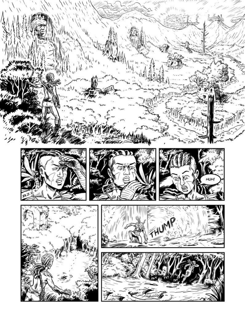 Page of Falling Awake by Carl Mefferd