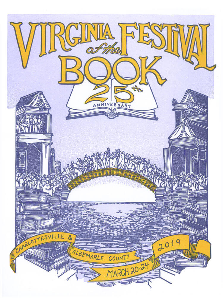 Virginia Festrival of the Book 25th Anniversary poster