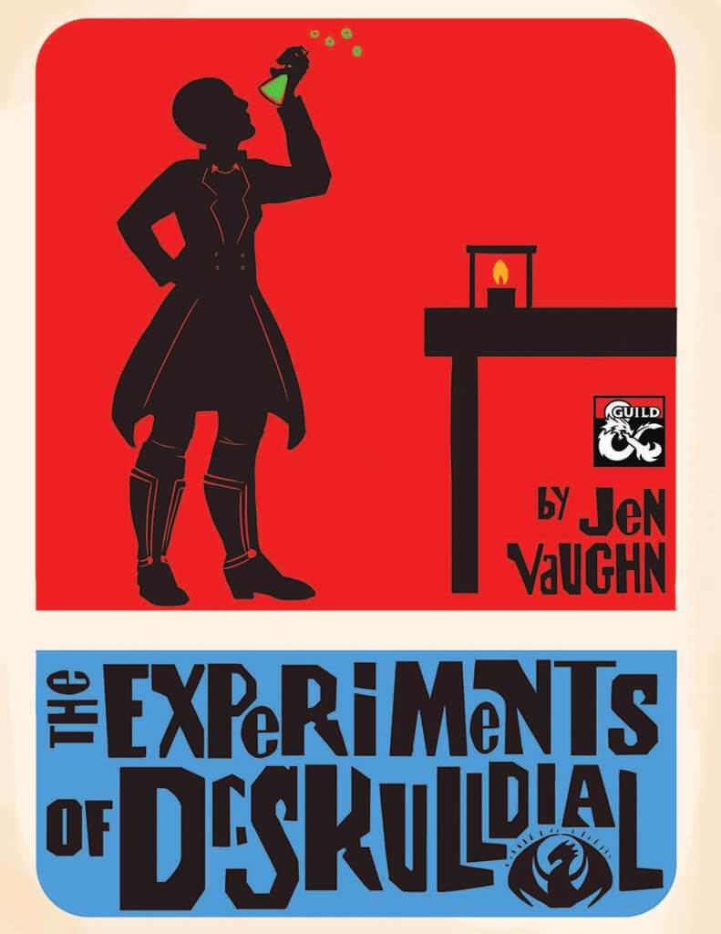 Cover of The Experiments of Dr. Skulldial by Jen Vaughn